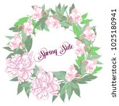 spring sale background with... | Shutterstock .eps vector #1025180941
