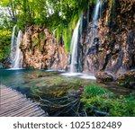 splendid morning view of... | Shutterstock . vector #1025182489