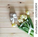 gift card with spring... | Shutterstock . vector #1025183854