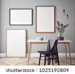 mock up poster with vintage... | Shutterstock . vector #1025192809