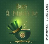 saint patrick day banner with... | Shutterstock .eps vector #1025195281
