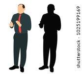 vector  isolated silhouette of... | Shutterstock .eps vector #1025199169