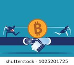 cryptocurrency. business people ... | Shutterstock .eps vector #1025201725