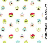 cute monster. monster kids... | Shutterstock .eps vector #1025207695