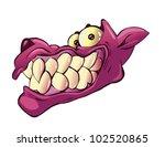 a dog smile | Shutterstock .eps vector #102520865