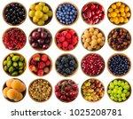 berries isolated on white.... | Shutterstock . vector #1025208781