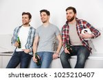 portrait of three smiling young ...   Shutterstock . vector #1025210407