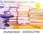microscope  test specimens of...   Shutterstock . vector #1025212744