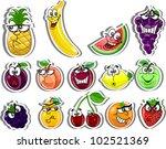 cartoon fruits | Shutterstock .eps vector #102521369