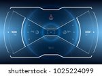 sci fi concept of future hud... | Shutterstock .eps vector #1025224099