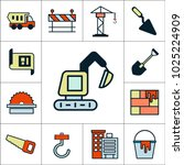 construction  vehicles  items... | Shutterstock .eps vector #1025224909
