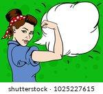 american woman. housewife. girl ... | Shutterstock .eps vector #1025227615