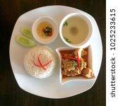 phanaeng is a type of red thai... | Shutterstock . vector #1025233615