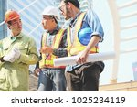 males  architect reading... | Shutterstock . vector #1025234119
