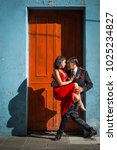 Argentine Tango Dancing Couple...