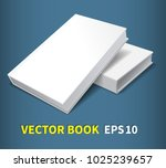 two books in hardcover. blank... | Shutterstock .eps vector #1025239657