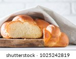 homemade challah bread ... | Shutterstock . vector #1025242819