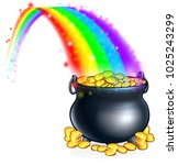 an illustration of a pot of... | Shutterstock .eps vector #1025243299