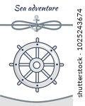 sea adventure  vector cordage... | Shutterstock .eps vector #1025243674