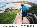 couple summer vacation travel.... | Shutterstock . vector #1025248129
