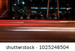 light trails in the city | Shutterstock . vector #1025248504