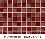 red coloured squared glass tiles | Shutterstock . vector #1025257741