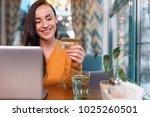 credit card number. joyful... | Shutterstock . vector #1025260501