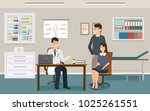doctor in uniform give two... | Shutterstock .eps vector #1025261551