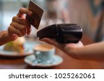 credit card usage. moment of...   Shutterstock . vector #1025262061
