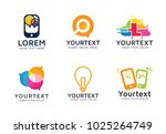 set of modern technology logos. ... | Shutterstock .eps vector #1025264749