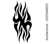 tattoo tribal vector design.... | Shutterstock .eps vector #1025268025
