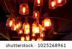 retro lighting fixtures combine ... | Shutterstock . vector #1025268961