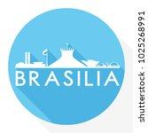 brasilia brazil flat icon... | Shutterstock .eps vector #1025268991