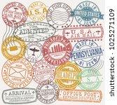philadelphia pennsylvania stamp ... | Shutterstock .eps vector #1025271109