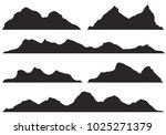 mountains silhouettes on the... | Shutterstock .eps vector #1025271379