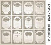 set of vintage frame with... | Shutterstock .eps vector #1025271505