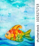 watercolor illustration of... | Shutterstock . vector #1025271715