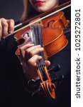 beautiful young woman playing... | Shutterstock . vector #1025272801