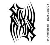 tattoo tribal vector design.... | Shutterstock .eps vector #1025280775