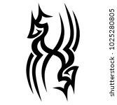 tattoo tribal vector design.... | Shutterstock .eps vector #1025280805