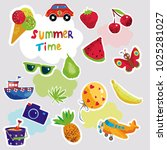 print summer vacation object... | Shutterstock .eps vector #1025281027