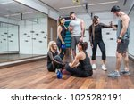 group of attractive  women and...   Shutterstock . vector #1025282191