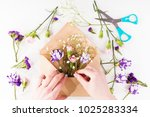 closeup of hands of young woman ... | Shutterstock . vector #1025283334