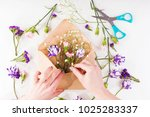 closeup of hands of young woman ... | Shutterstock . vector #1025283337