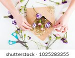 closeup of hands of young woman ... | Shutterstock . vector #1025283355