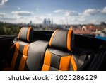 convertible car parked on... | Shutterstock . vector #1025286229