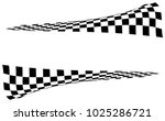 checkered racing flag isolated... | Shutterstock .eps vector #1025286721