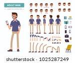 adult man character... | Shutterstock .eps vector #1025287249