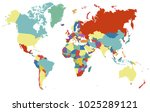 world map vector. | Shutterstock .eps vector #1025289121