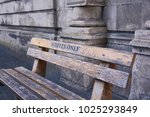 white only bench in cape town   Shutterstock . vector #1025293849